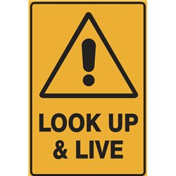 WARNING LOOK UP AND LIVE