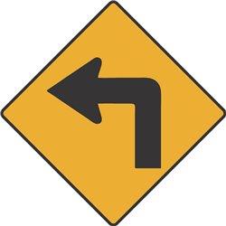 WARNING LEFT TURN AHEAD