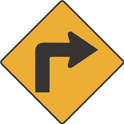 WARNING RIGHT TURN AHEAD