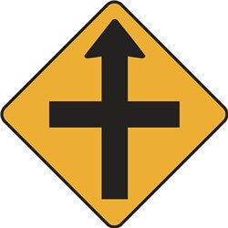 WARNING CROSSROADS AHEAD