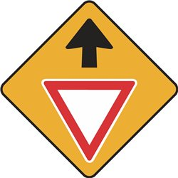 WARNING GIVE WAY AHEAD