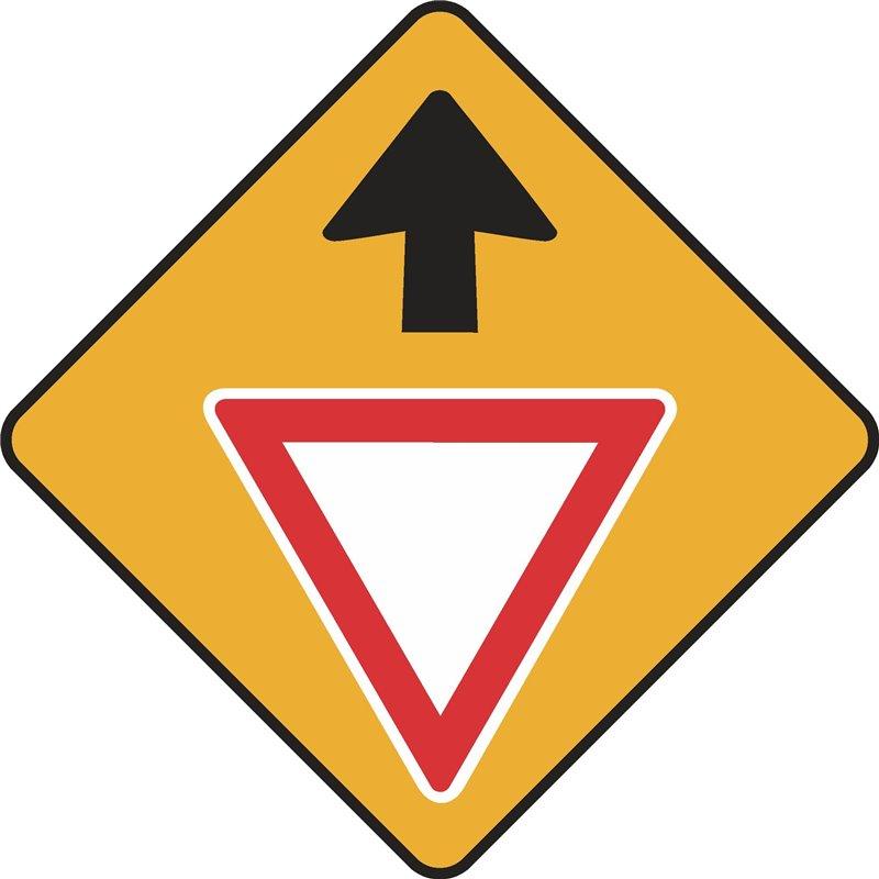 WARNING GIVE WAY AHEAD
