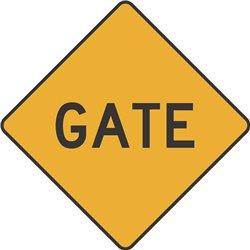 WARNING GATE