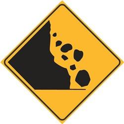 WARNING UNSTABLE FALLING ROCKS