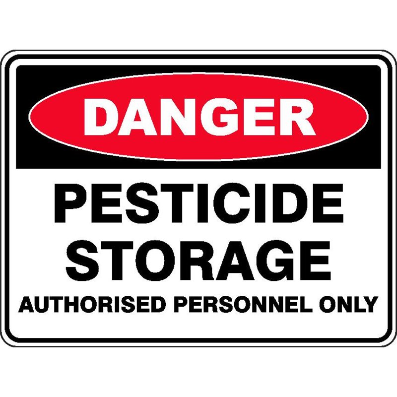 DANGER PESTICIDE STORAGE