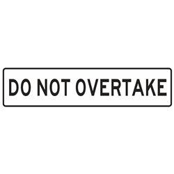 TRAFFIC DO NOT OVERTAKE