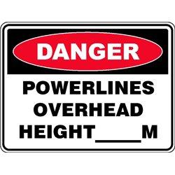 DANGER POWERLINES OVERHEAD