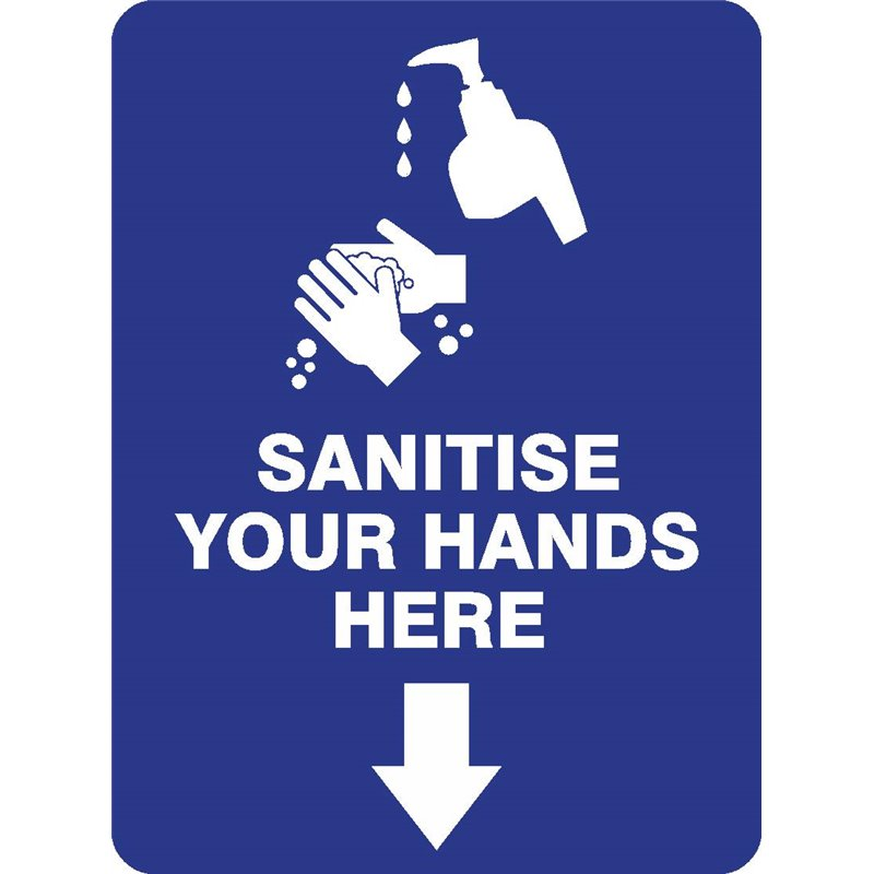 SANITISE YOUR HANDS HERE