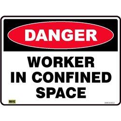 DANGER WORKER IN CONFIN SPACE