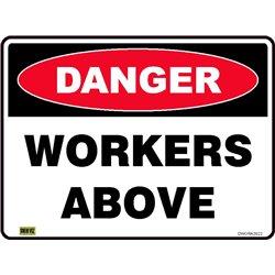 DANGER WORKERS ABOVE