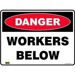 DANGER WORKERS BELOW