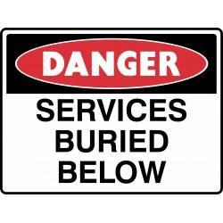 DANGER SERVICES BURIED BELOW