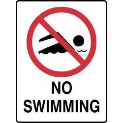 PROHIBITION NO SWIMMING