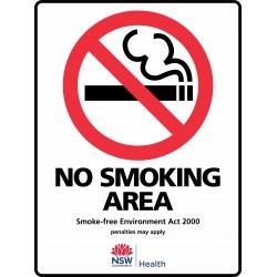 PROHIBITION NO SMOKING AREA...