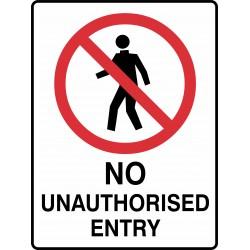 PROHIBITION NO UNAUTHORISED...