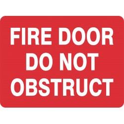 FIRE DOOR DO NOT OBSTRUCT
