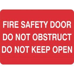 FIRE SAFETY DOOR DO NOT...