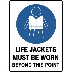 MANDATORY LIFE JACKETS MUST...