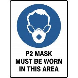 MANDATORY P2 MASK MUST BE...
