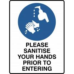 MANDATORY PLEASE SANITISE...