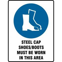 MANDATORY STEEL CAP...