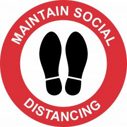 MAINTAIN SOCIAL DISTANCING...