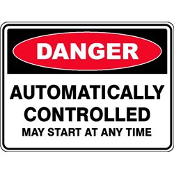 DANGER AUTO CONTROLLED