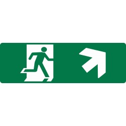 EXIT RUNNING MAN UP RIGHT