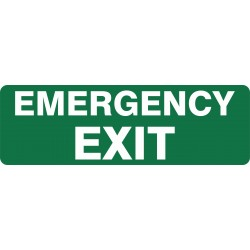 EXIT EMERGENCY EXIT