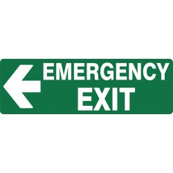 EXIT EMERGENCY EXIT LEFT