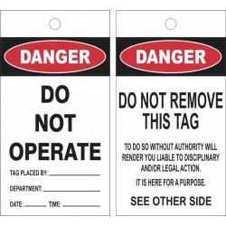DANGER DO NOT OPERATE LOCK...