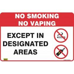 NO SMOKING OR VAPING...