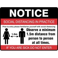 NOTICE SOCIAL DISTANCING IN...