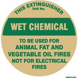 FIRE EXTINGUISHER WET CHEM SQ