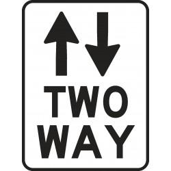 REGULATORY 2 WAY TRAFFIC...