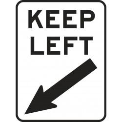REGULATORY KEEP LEFT...