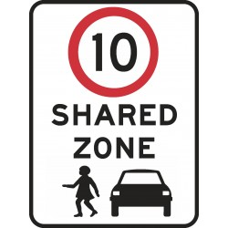 TRAFFIC SIGN SHARED ZONE (10)