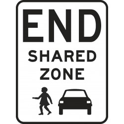 TRAFFIC SIGN END SHARED ZONE