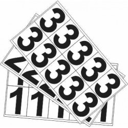 NUMBERS 0-9 DECAL PACK