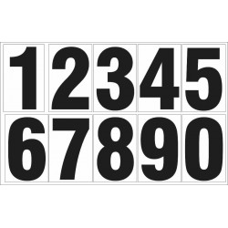 NUMBERS 0-9 DECAL
