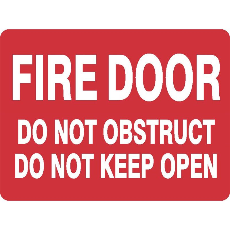 FIRE DOOR DO NOT OBSTRUCT