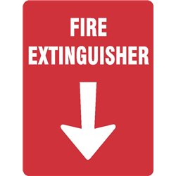 FIRE EXTINGUISHER WITH ARROW
