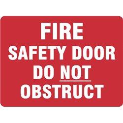 FIRE SAFETY DOOR DO NOT OBSTR.