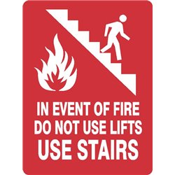 FIRE DO NOT USE STAIRS