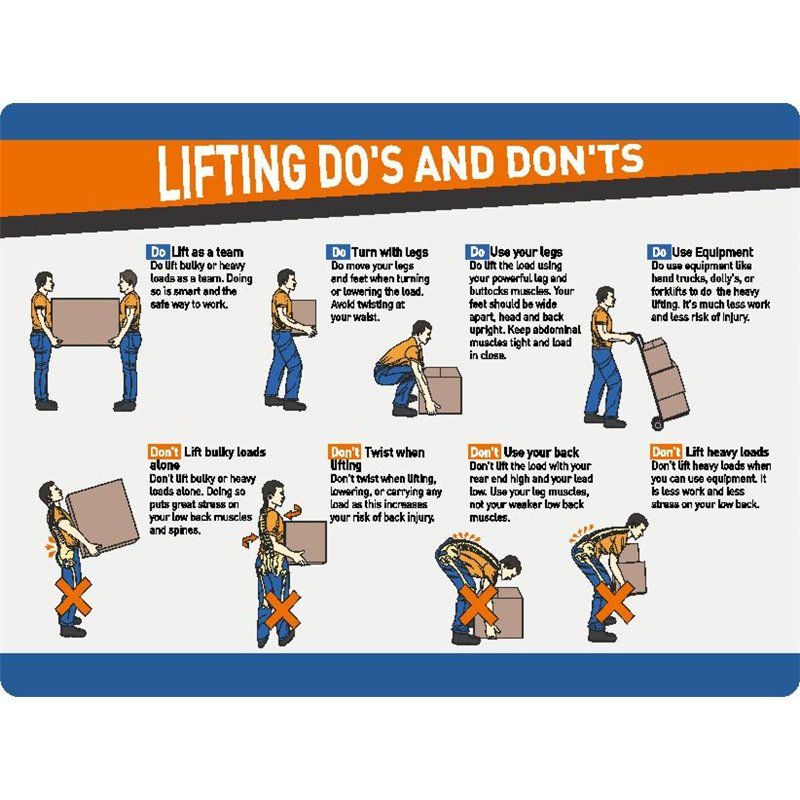 GENERAL LIFTING DO AND DO NOTS