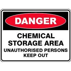DANGER CHEMICAL STOR AREA