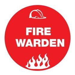 HARD HAT MOTIF FIRE WARDEN