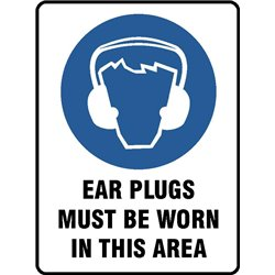 MAND EAR PLUGS MUST BE WORN