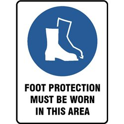 MAND FOOT PROTECT MUST BE WORN