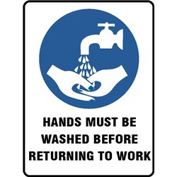 MANDATORY HANDS MUST BE WASHED